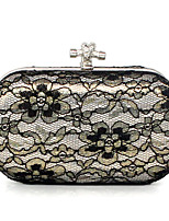 Women Bags All Seasons Satin Clutch for Event/Party Black