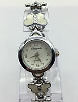 Per donna Orologio da polso Orologio braccialetto Cinese Quarzo Metallo Banda Casual Bianco Argento
