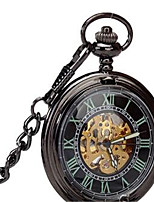 Men's Women's Pocket Watch Automatic self-winding Water Resistant / Water Proof Alloy Band Black