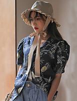 Camicia Da donna Casual Semplice Fantasia floreale Colletto Altro Manica corta