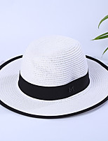 Women's Straw Straw Hat Sun Hat,Casual Vacation Hats Solid Summer Pure Color