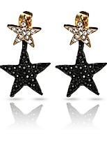 Women's Drop Earrings Imitation Diamond Fashion Personalized Hypoallergenic Imitation Diamond Alloy Star Jewelry ForParty Birthday