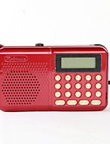 162 Radio portable Lecteur MP3 Carte TFWorld ReceiverRouge