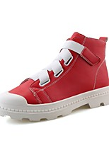 Men's Sneakers Comfort Light Sole Fall Winter Nubuck leather PU Leather Casual Outdoor Flat Heel Red Black White Flat
