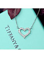 Per donna Girocolli Collane con ciondolo A forma di cuore Lega Amore Cuore Adorabile Stile semplice Gioielli Per Quotidiano Casual