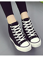 Damen Sneaker Komfort Leinwand Herbst Normal Weiß Schwarz Flach