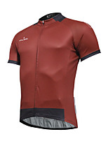 Breathable And Comfortable Paladin Summer Male Short Sleeve Cycling Jerseys DX772Red