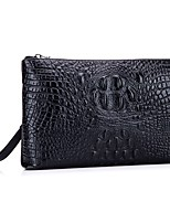 Men Bags All Seasons Cowhide Clutch for Event/Party Formal Office & Career Black