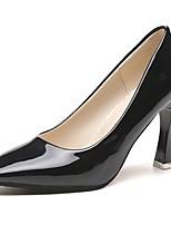 Для женщин Обувь на каблуках Светодиодные подошвы Весна Осень Полиуретан Повседневные Для праздника На толстом каблуке Черный Серебряный