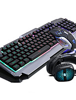 RUYINIAO Keyboard Mouse Headset Backlit Gaming Suit 104Keys Adjustment DPI Have MIC USB Prots