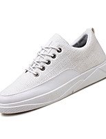 Men's Sneakers Comfort Customized Materials Leatherette Spring Fall Casual Outdoor Office & Career Split Joint Flat Heel Gray Black White