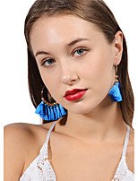 Women's Drop Earrings Tassel Metallic Handmade Bohemian Alloy Circle Jewelry For Gift Daily Ceremony Going out Street