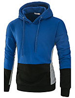 Men's Sports Running Going out Casual/Daily Simple Active Street chic Hoodie Color Block Patchwork Hooded Inelastic Polyester SpandexLong
