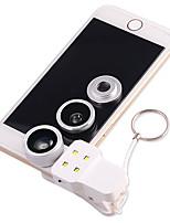 BIAZE B3 Mobile Phone Lens 0.4X Wide-Angle Fish Eye Macro Wide Belt Fill Light