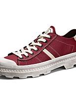 Для мужчин Кеды Удобная обувь Светодиодные подошвы Осень Зима Натуральная кожа Кожа Полиуретан Повседневные Шнуровка На плоской подошве