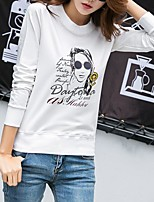 Women's Going out Sophisticated T-shirt,Print Round Neck Long Sleeves Others