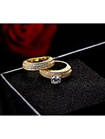 Damen Bandringe Kubikzirkonia Vintage Luxus-Schmuck Elegant Kubikzirkonia Kreisform Schmuck Für Hochzeit Party Verlobung Zeremonie