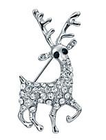 Жен. Девочки Броши Цирконий Животный дизайн Позолота Бижутерия Назначение Свадьба Для вечеринок Официальные Рождество