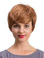 Fluffy And Graceful Short Hair Human Hair Wigs  For  Women