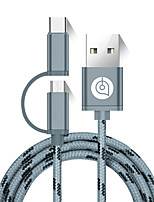 AIMEISHENG L53 USB 2.0 Connect Cable USB 2.0 to USB 2.0 Type C Micro USB 2.0 Connect Cable Male - Male 1.5m(5Ft)