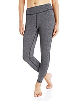 Femme Collants de Course Leggings de Sport Fitness, course et yoga Leggings pour Yoga Course Exercice & Fitness Coton Mince Noir Gris