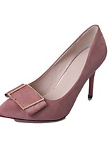 Women's Heels Light Soles PU Summer Dress Stiletto Heel Blushing Pink Army Green Black 2in-2 3/4in