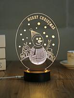 1 Set, Popular Home Acrylic 3D Night Light LED Table Lamp USB Mood Lamp Gifts, Merry Christmas