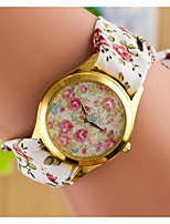 Women's Wrist watch Quartz Fabric Band Bohemian White Brown