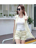 Women's Casual/Daily Simple Summer T-shirt Pant Suits,Solid Crew Neck Short Sleeve