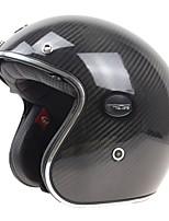 Mezzo casco Durata Peso leggero Alta qualità Fibra di carbonio e EPS Caschi Moto