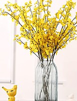 1 Branch Plastic Plants Tabletop Flower Artificial Flowers Dendrobium Living Room Decoration