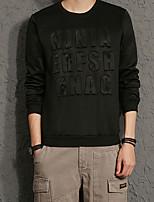 Sweatshirt Homme Grandes Tailles Décontracté / Quotidien simple Lettre Col Arrondi Extensible Coton Manches longues Printemps Automne