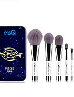 1set Makeup Brush Set Synthetic Hair Portable Easy to Use Easy Carrying Easy to Carry Aluminum Wood Men Face Men and Women Daily Eyes