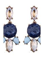 Fashion Women Colourful Rhinestone Drop Earrings