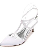 Femme Chaussures de mariage Salomé Confort Escarpin Basique Bride de Cheville Satin Printemps Eté Mariage Habillé Soirée & Evénement