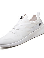 Men's Sneakers Comfort Light Soles Fabric Summer Fall Casual Outdoor Flat Heel Black White