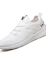 Da uomo Sneakers Comoda Suole leggere Estate Autunno Tessuto Casual Piatto Bianco Nero Piatto