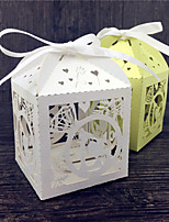 50 Porta-bomboniera-Cubi Carta perlata Bomboniere scatole