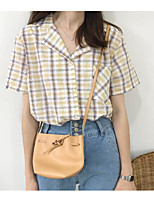 Women's Casual/Daily Simple Shirt,Print Shirt Collar Short Sleeves Linen Others