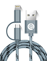 USB 2.0 Kabel, USB 2.0 to Micro USB 2.0 Lightning Kabel Male - Male 1.5M (5Ft)
