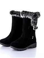 Damen Stiefel Komfort Winter Stoff Normal Flacher Absatz Schwarz Flach
