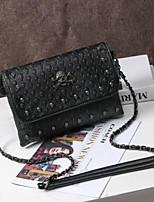 Women Shoulder Bag PU All Seasons Round Zipper Black