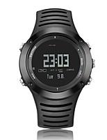 Men's Sport Watch Digital PU Band Black