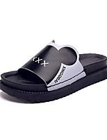 Women's Slippers & Flip-Flops Light Soles PU Summer Casual Flat Heel Blushing Pink Black Under 1in