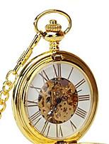 Herrn Damen Taschenuhr Automatikaufzug Wasserdicht Legierung Band Gold