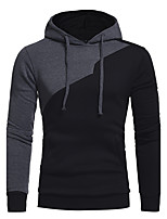 Men's Daily Sports Casual Hoodie Solid Hooded Inelastic Cotton Long Sleeve Winter All Seasons