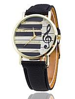 Men's Dress Watch Fashion Watch Wrist watch Unique Creative Watch Casual Watch Chinese Quartz PU Band Casual Elegant Black White