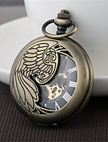 Men's Pocket Watch Automatic self-winding Hollow Engraving Alloy Band Bronze