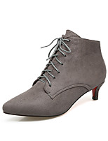 Women's Shoes Suede Leatherette Fall Winter Fashion Boots Bootie Boots Low Heel Pointed Toe Booties/Ankle Boots Lace-up For Casual Dress