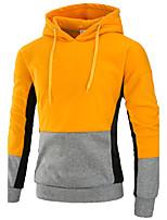 Felpa con cappuccio Da uomo Semplice Sport Per uscire Casual Monocolore Collage Media elasticità Nylon Manica lunga Autunno Inverno